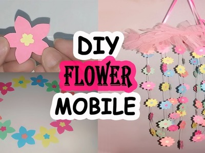 DIY Papar Flower Mobile | How to Make Chandelier out of Paper