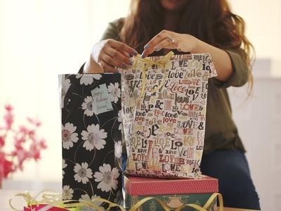 DIY Paper Bags For Gifts - Easy to Make | How to Make a Paper Bag Tutorial | Glamrs