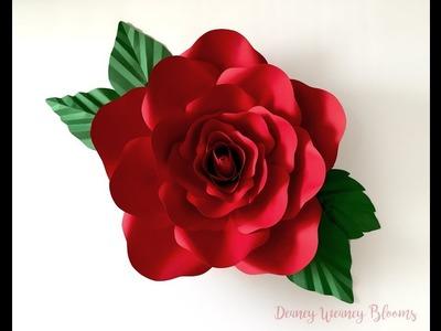 DIY Paper Flower Tutorial- Large Paper Rose