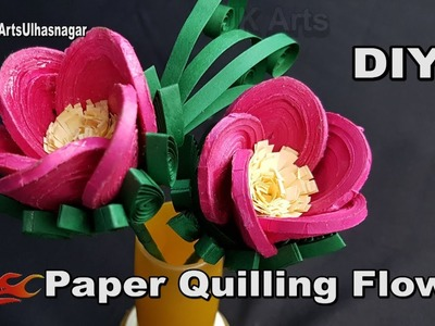 DIY Paper Quilling Flowers Tutorial   How to make Quilled 3D Flower   JK Arts 1273