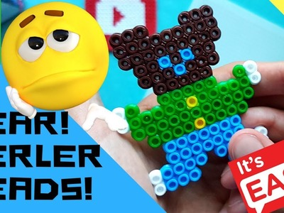 ✔DIY PERLER BEAD BEAR (EASY-TO-DO, STEP-BY-STEP TUTORIAL!)✔