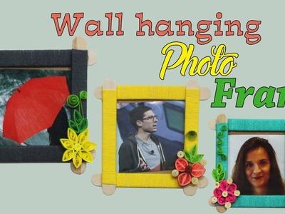 DIY Photo Frame using Popsicle Sticks | Yarn Photo Frame ideas | DIY Wall Décor