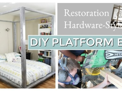 DIY Platform Bed Part 1 - How to Decorate Bedroom On A Budget - Frugal Living