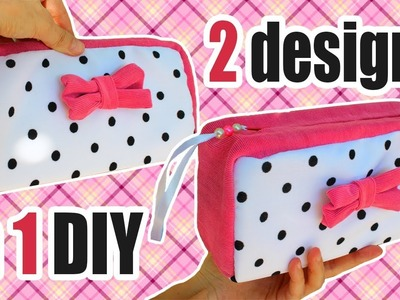 DIY PURSE BAG & MAKE UP BAG TUTORIAL FASHION DESIGN