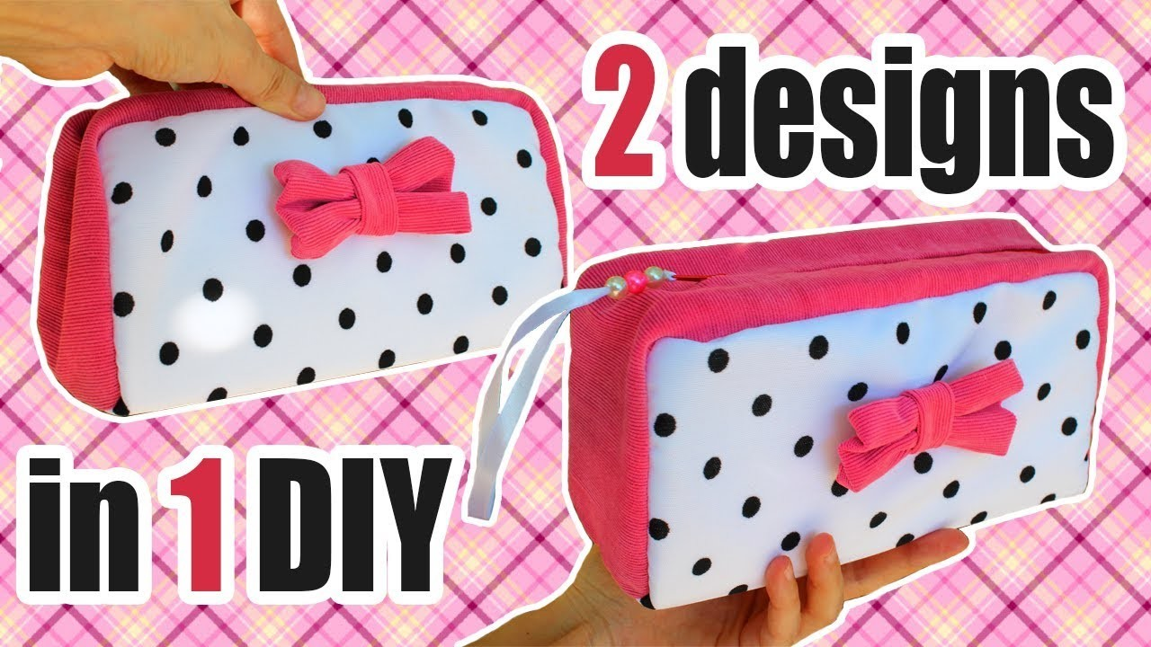 DIY PURSE BAG & MAKE UP BAG TUTORIAL FASHION DESIGN