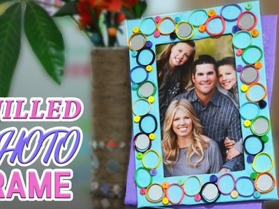 DIY Quilled Photo Frame Tutorial | Home Decor | Paper Crafts when you're bored at Home