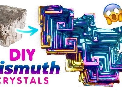 "DIY RAINBOW BISMUTH CRYSTALS!! Make ""Oil-Spill"" Crystals in Your Kitchen!"