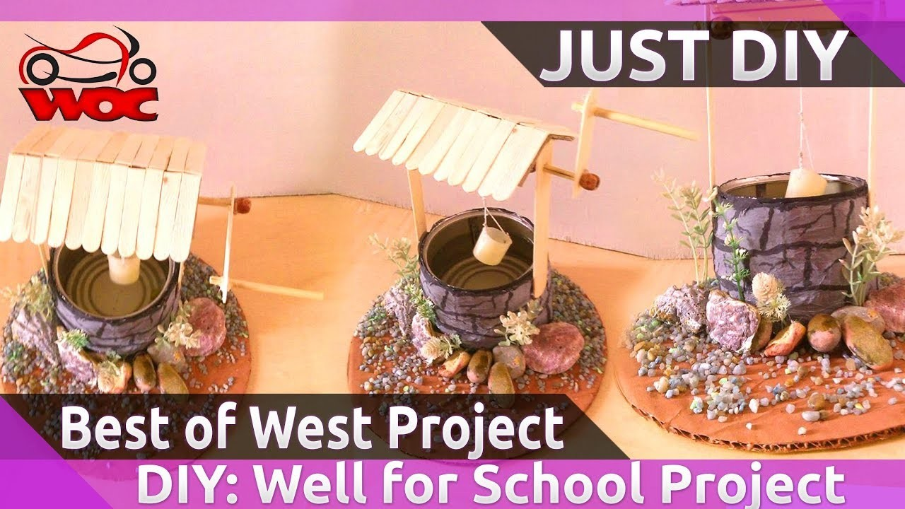 how to make a well for school project