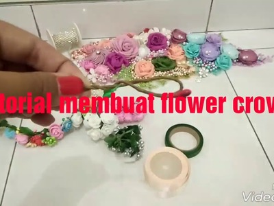 DIY || Tutorial membuat flower crown || cara membuat mahkota bunga || DIY flower crown