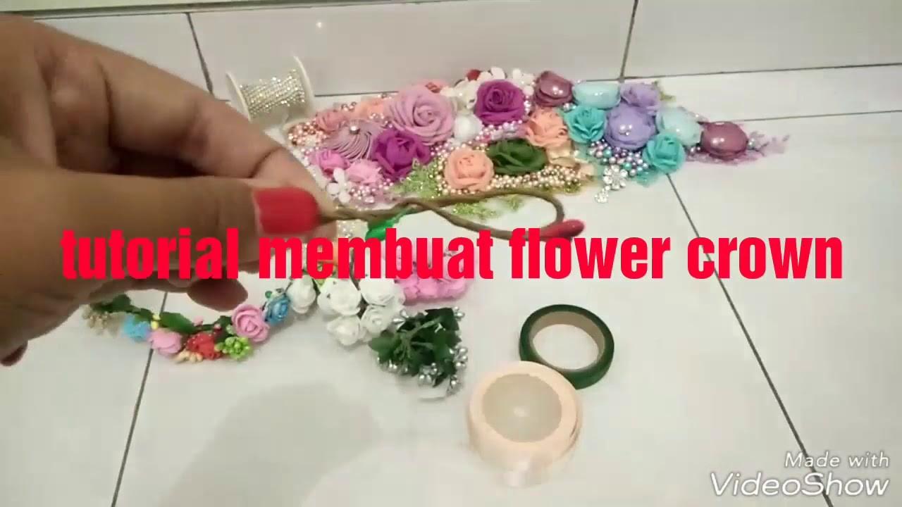 DIY || Tutorial membuat flower crown || cara membuat mahkota bunga || DIY flower crown