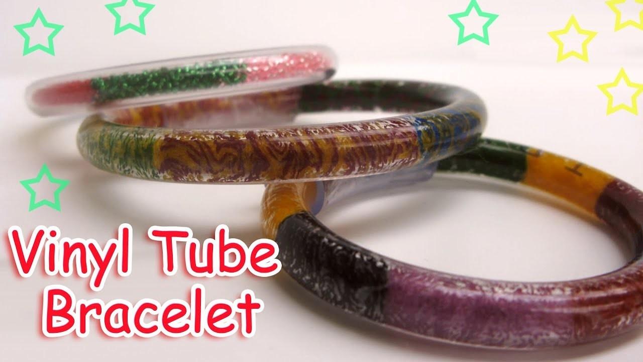 DIY Vinyl Tube Bracelet  - Ana   DIY Crafts