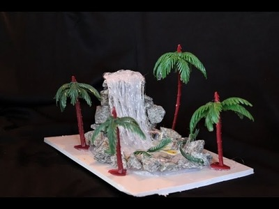 DIY -waterfall showpiece. HOT GLUE WATERFALL EASY TUTORIAL