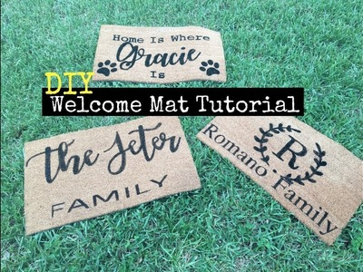 DIY Welcome Mats Tutorial