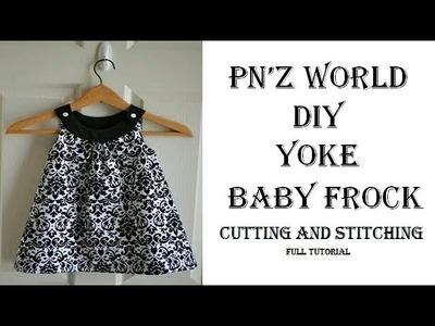 DIY yoke baby frock cutting and stitching full tutorial.pn'z world