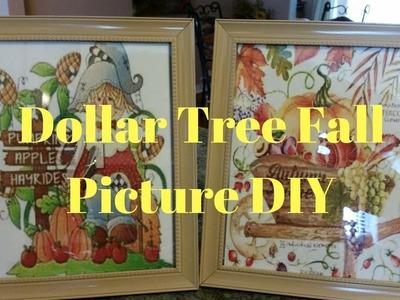 Dollar Tree Fall Picture DIY