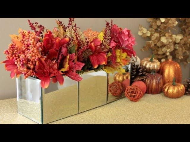 Dollar tree mirror box fall floral diy my crafts and diy for Room decor ulhasnagar