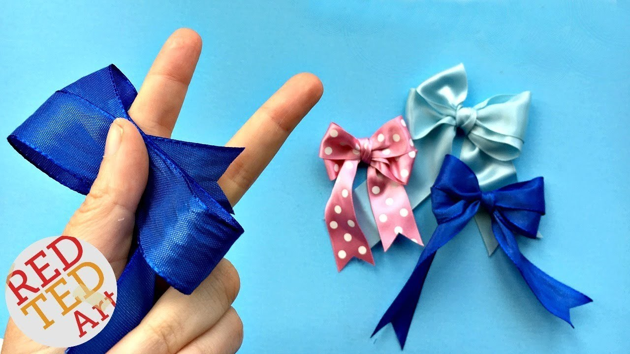 how to make craft bow tutorial easy hair bow diy how to make a 4721