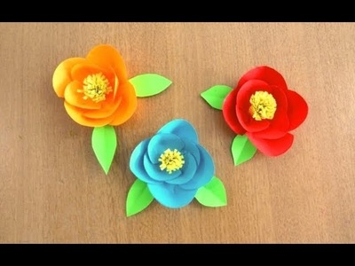 Easy & Beautiful Paper Flower ~ DIY ~ Flower Making Tutorial ~ Step by Step Instructions .