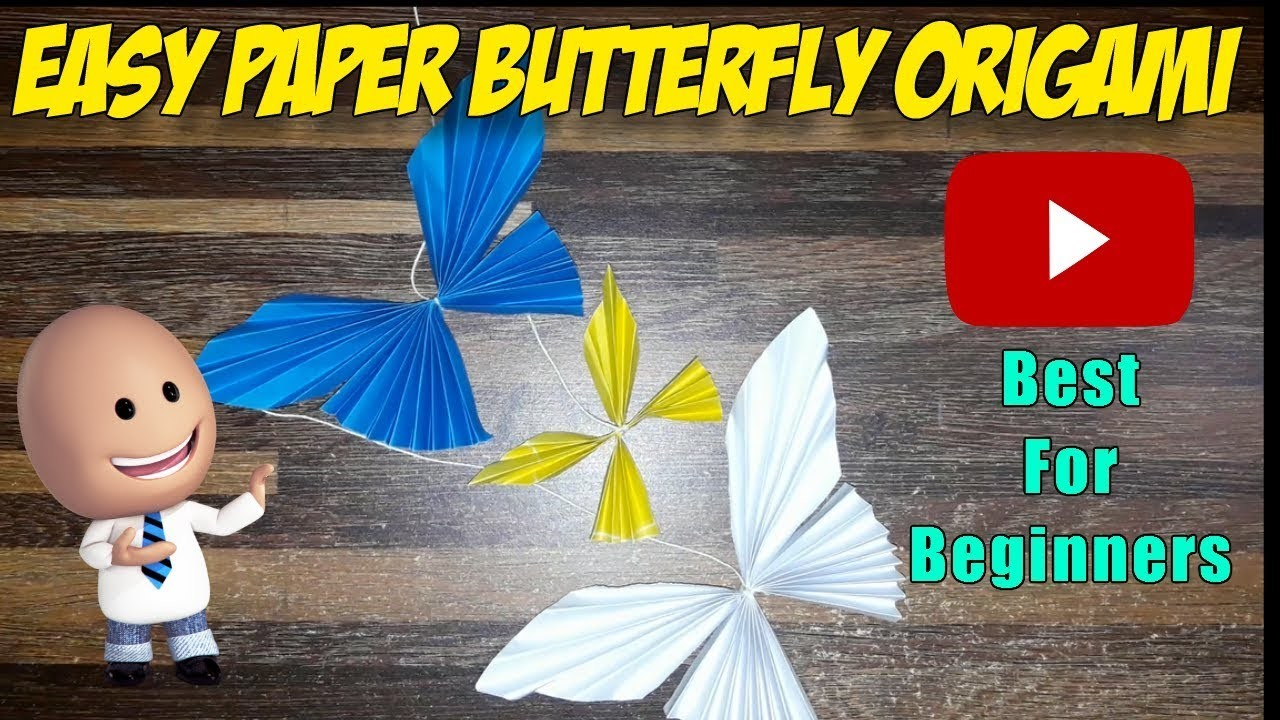 Easy Paper Butterfly Origami - Cute & Easy Butterfly DIY - Origami for Beginners | DIY Paper Crafts