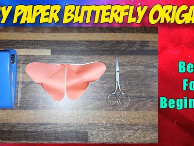 Easy Paper Butterfly Origami - Cute  Easy Butterfly DIY - Origami for Beginners - Origami Paper