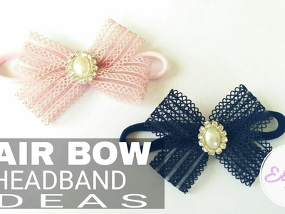 Easy Ribbon Hair Bow Headband Ideas | DIY by Elysia Handmade