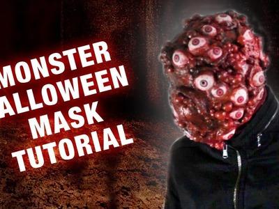 .  eine Monster Halloween Maske DIY. Tutorial