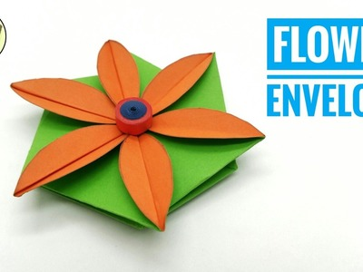 Flower Envelope for Teacher's Day  - DIY ❤️ Handmade ❤️ Tutorial ❤️ Paper Folds - 791
