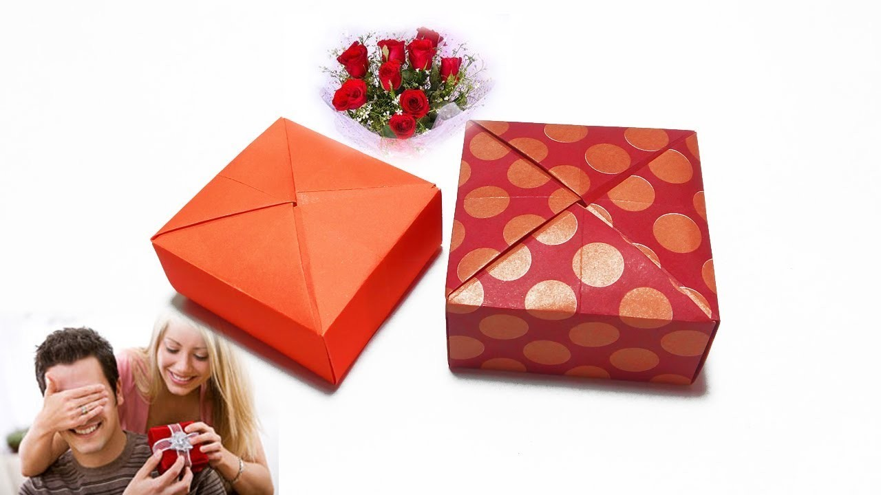 Paper Gift Box Ideas : Gift box diy ideas origami paper how
