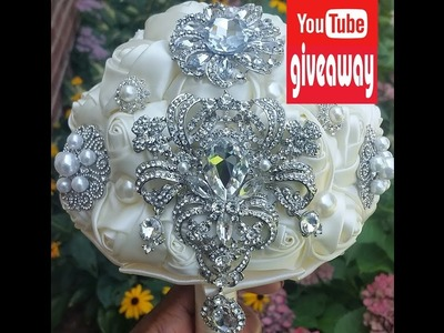 Giveaway l Brooch Bouquet l DIY Bouquet Kit Giveaway l How to Decorate Tutorial