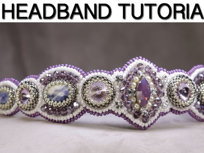 Headband Tutorial. How To Make beautiful, elegant headband DIY.