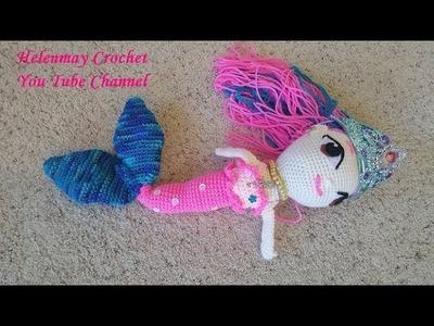 Helenmay Crochet Beautiful Mermaid Part 3 DIY Video Tutorial
