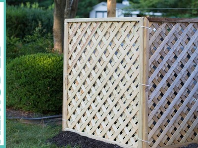 Hide Your Outdoor AC Unit! Easy DIY Lattice Air Conditioner Screen
