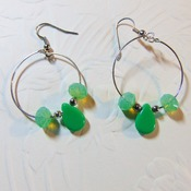 Hooped Green Briolettes
