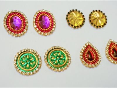 How Make Simple & Easy Earrings Studs at Home | DIY | Studs Making Tutorial | Patches at Home | Arts
