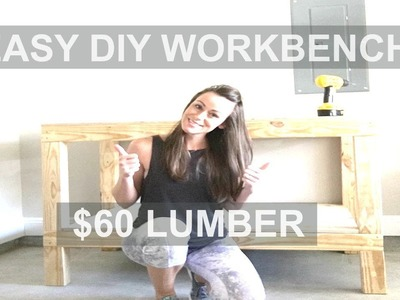How to Build an Easy Garage Workshop Workbench   $60 Lumber (Ana White)