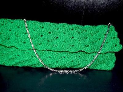 How to crochet a purse.clutch.bag