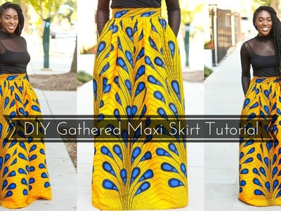 How to | DIY Gathered Maxi Skirt Tutorial Part 1