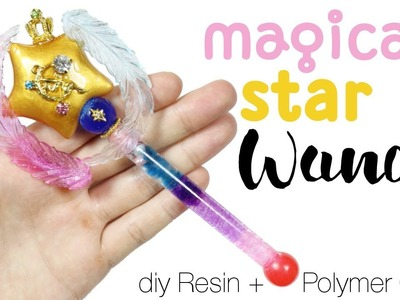 How to DIY Lifesize Magical Star Wand Resin.Polymer Clay Tutorial