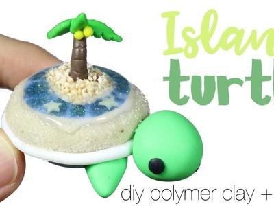 How to DIY Tropical Island Terrarium Turtle Polymer Clay.Resin Tutorial