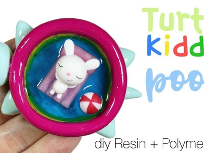 How to DIY Turtle Kiddie Pool + Bunny&Floatie Polymer Clay.Resin Tutorial