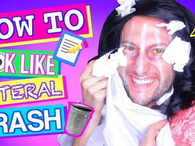 How to Look Like LITERAL TRASH! | DIY Back To School Trend Parody
