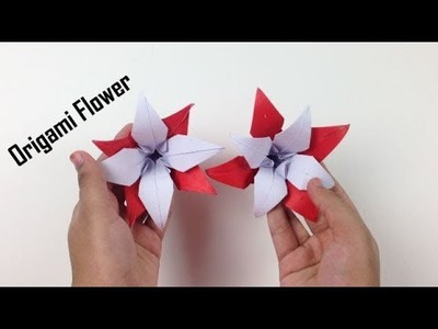 How to Make a Beautiful Origami Paper Flower - EasyCrafts DIY | Origami Flowers Tutorial - DIY Craft
