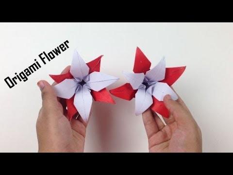 How to Make a Beautiful Origami Paper Flower - EasyCrafts DIY | Origami Flowers Tutorial - DIY Craft