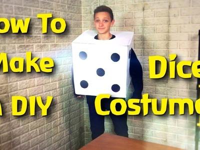 How To Make A Cardboard Die Costume! (Easy DIY)