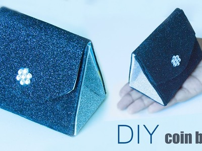 How to make a Glitter coin bag (Easy) | DIY coin purse tutorial (No sew) | Best out of waste ideas