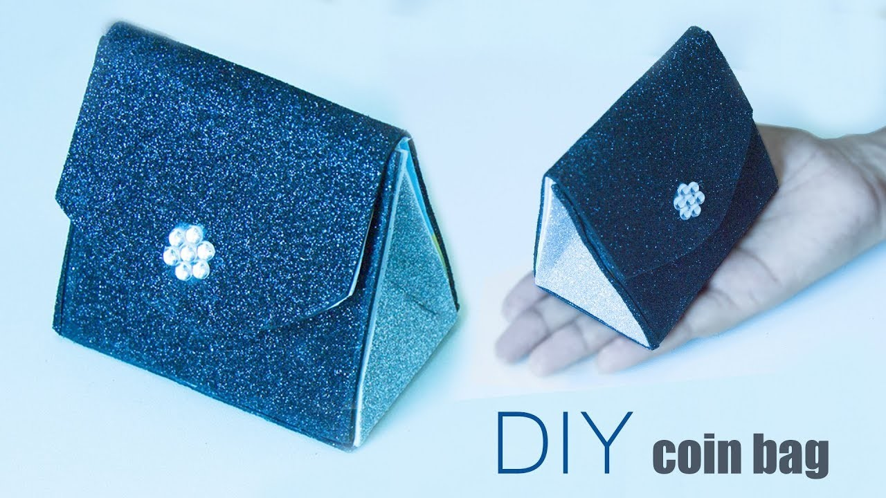 Diy Coin Purse No Sew How to make a Glitter ...
