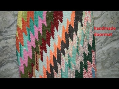 How to Make beautiful doormat from using old cloths .diy doormat design making tutorial  never see.