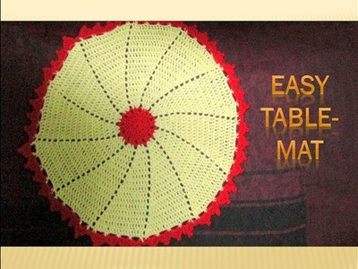 How to make Crochet Table mat.runner.Placemat.[Hindi]