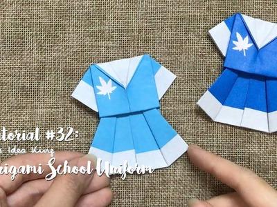 How to Make DIY Origami Cute School Uniform? | The Idea King Tutorial #32