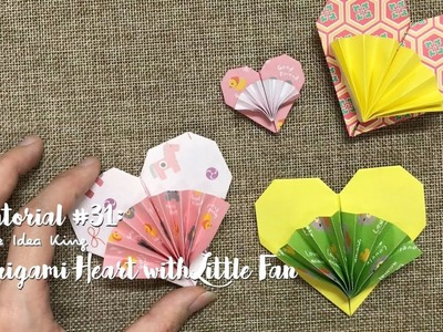 How to Make DIY Origami Heart with Little Fan? | The Idea King Tutorial #31